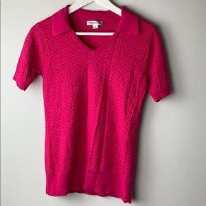 Pendleton Bright Pink Light Knit Sweater Top